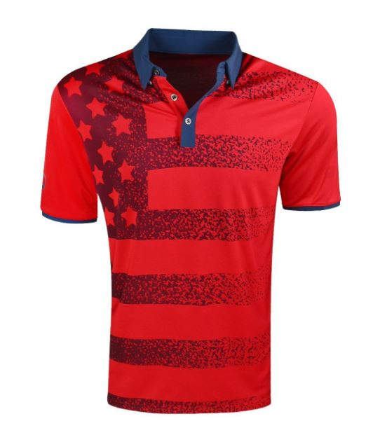 Olympic Golf - USA Flag Polo