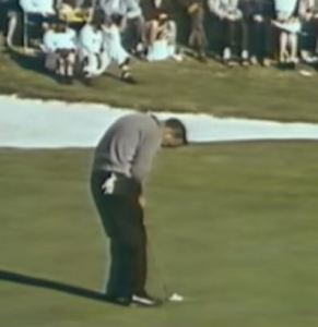 Arnold Palmer at the 1960 Masters.