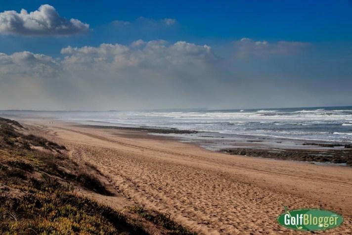 Beach at Mazagan resort, Morocco.