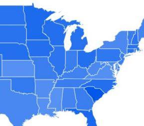 Which States Are Most Interested In Golf