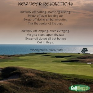 GolfBlogger's New Year's Golf Resolutions