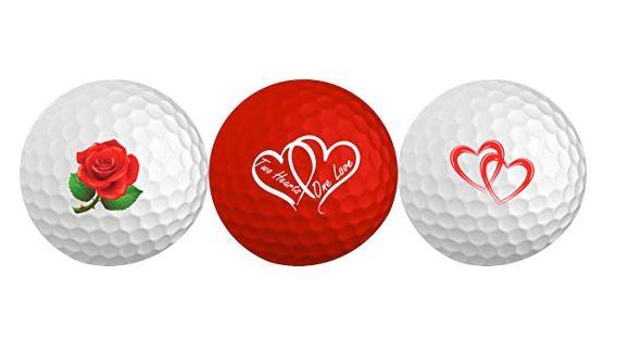 Valentines Day Golf Balls