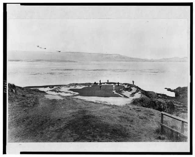 Vintage Photo Of Pebble Beach's Seventh Hole