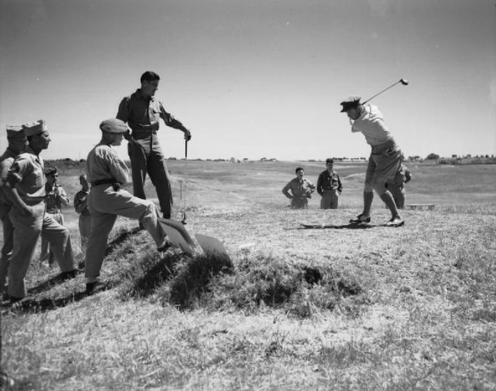 Bobby Locke and Tommy Bolt Golf In Rome During WWII