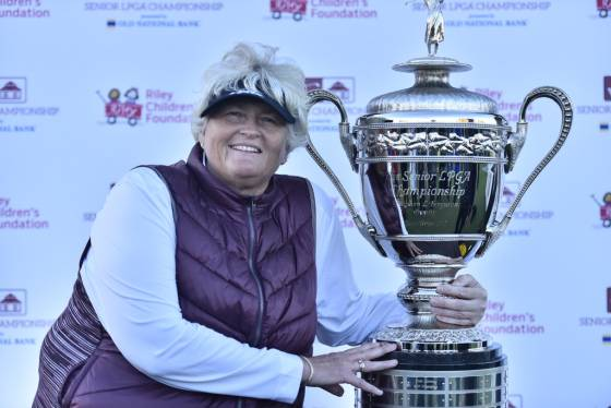 Dame Laura Davies Goes Wire to Wire to Win the Senior LPGA Championship presented by Old National Bank