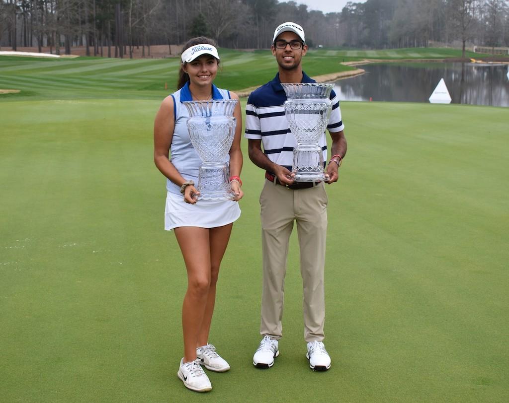 Bhatia and Pano Win 2019 Dustin Johnson World Junior Golf Championship