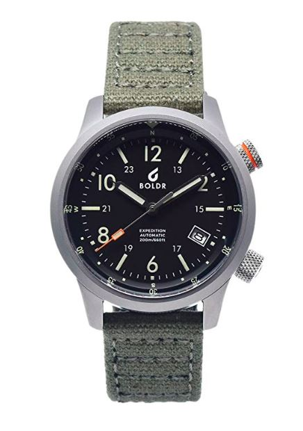 The BOLDR Expedition Automatic Field Watch was born on Kickstarter and now is available at retail.