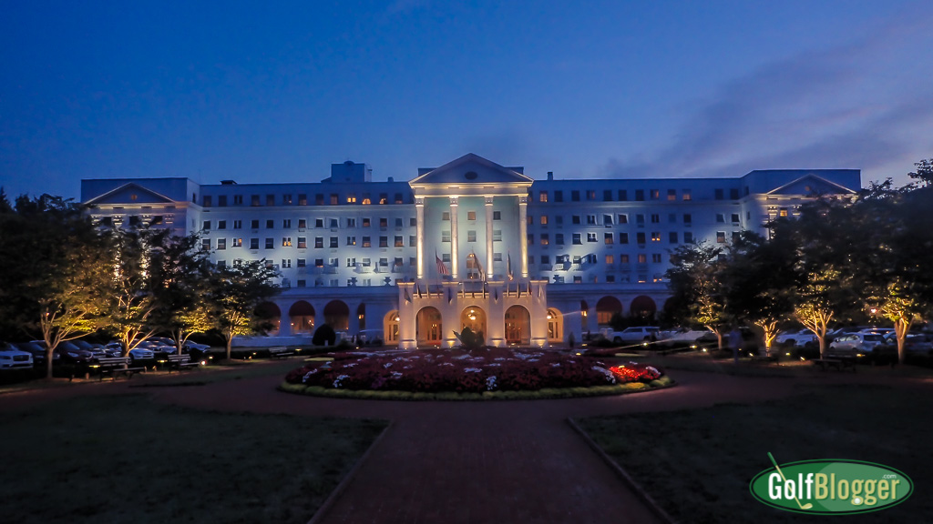 The iconic hotel at the Greenbrier from GolfBlogger's Greenbrier Old White TPC Review
