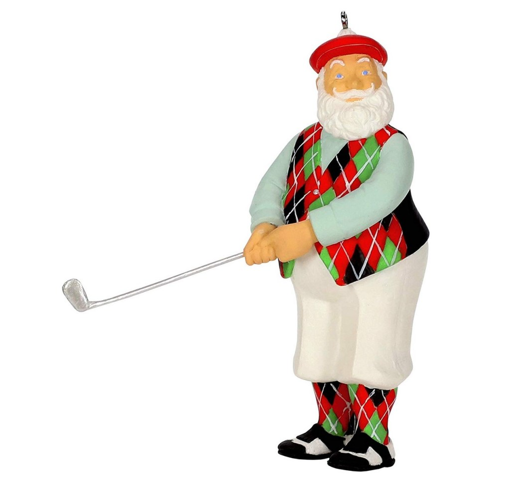 Santa Golfing Ornament