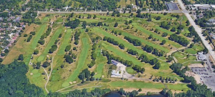 Satellite View of Sylvan Glen. Click to embiggen Sylvan Glen Golf Course Review