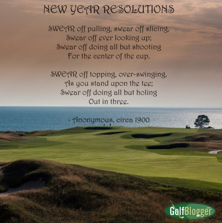 A New Year's Golf Resolution In Poetry