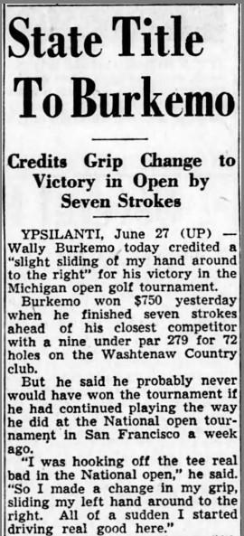 Three Major Winners Played In 1955 Michigan Open at Washtenaw Golf Club