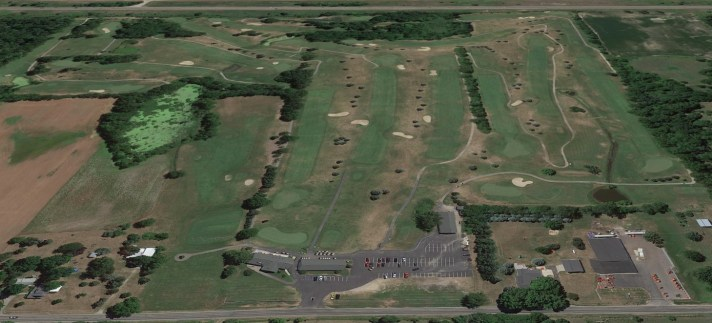 Wheatfield Valley Golf Course Review Aerial view