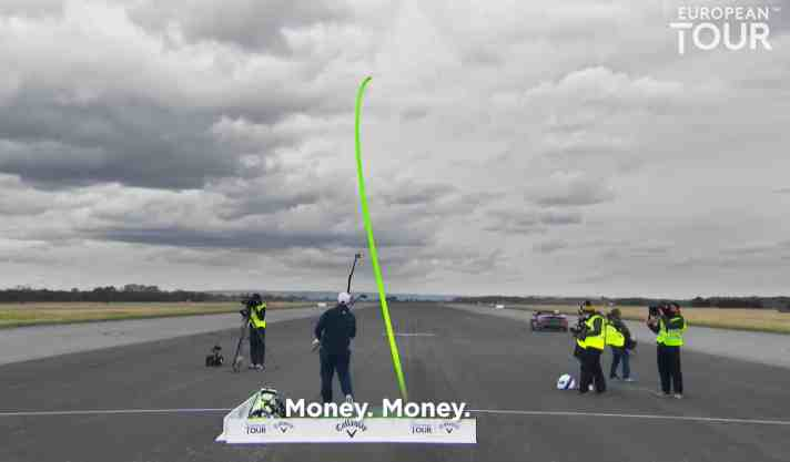 """That Is Money"" - New Record Set For Golf Shot Caught In A Moving Car"