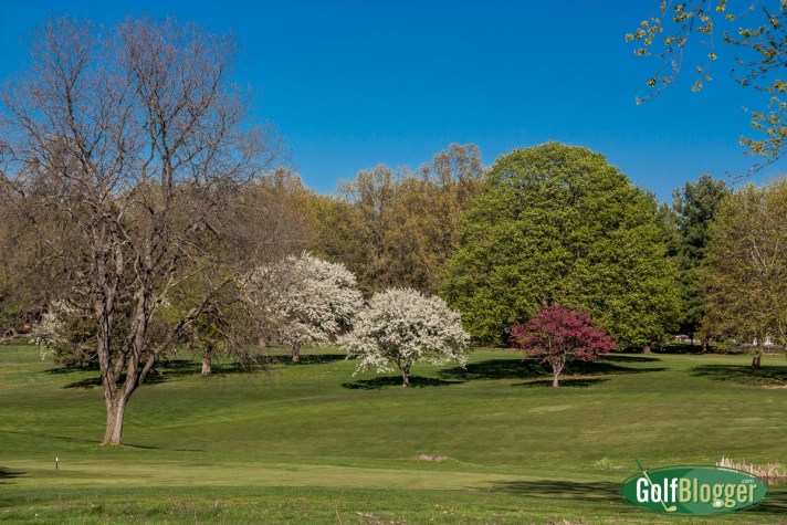 Spring Golf In Michigan: A look across the 13th fairway at Washtenaw Golf Club in the spring