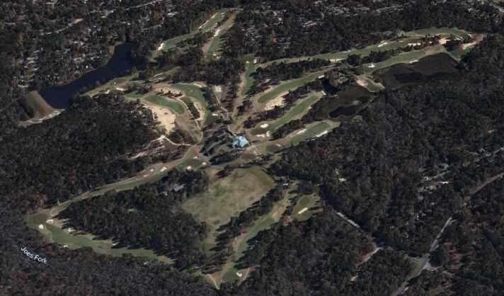 Pinehurst No. 8 Review Aerial shot