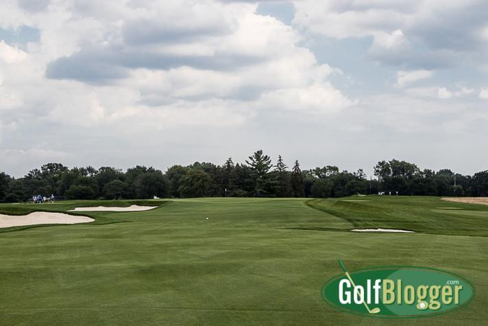 A view from the fairway on Oakland Hills South, hole 02