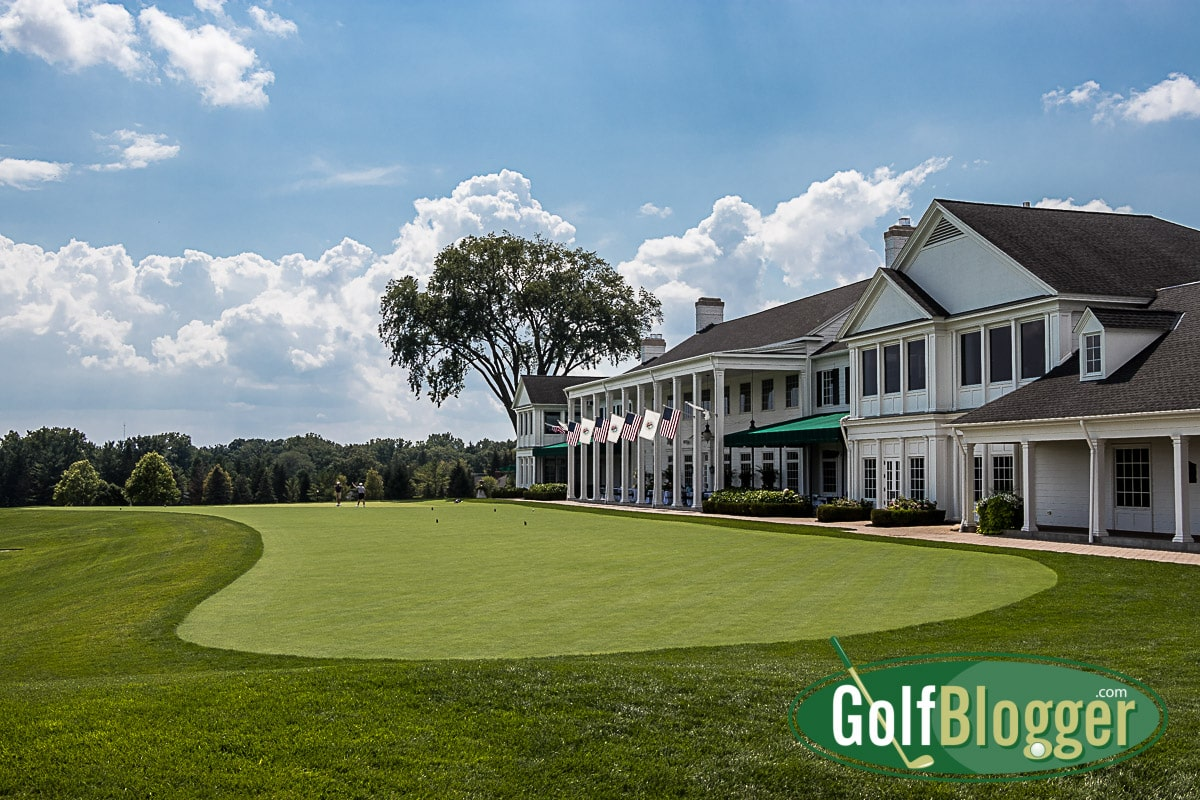 The iconic Oakland Hills Clubhouse