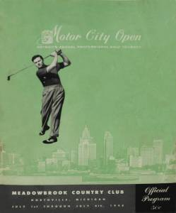 Detroit's First Pro Golf Tour Event – The Motor City Open