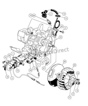 ENGINE  FE290 ENGINE – IGNITION COMPONENTS AND FLYWHEEL