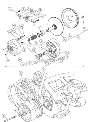 DRIVE CLUTCH – CARRYALL 2 PLUS, AND TURFCARRYALL 6  Club