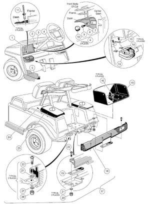 19981999 Club Car DS Gas or Electric  Club Car parts & accessories