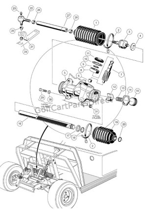 Steering Gear Assembly  Club Car parts & accessories
