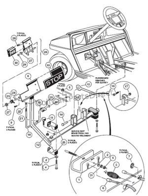Brake Pedal Assembly  GolfCartPartsDirect