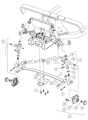 Front Suspension  Lower  GolfCartPartsDirect
