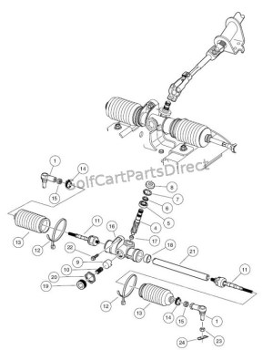 Steering Gear Assembly  GolfCartPartsDirect