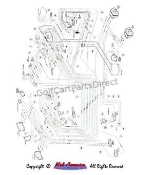 Wiring, Gas Carryall VI  Club Car parts & accessories