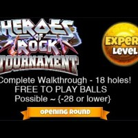 Golf Clash - Heroes of Rock Tournament - EXPERT - Opening Round - Complete Walkthrough - 18 holes!
