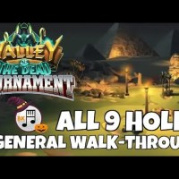 Valley of the Dead Tournament Walkthrough, all Holes 1-9 | Dreaded Jamil Dunes | Golf Clash Guide