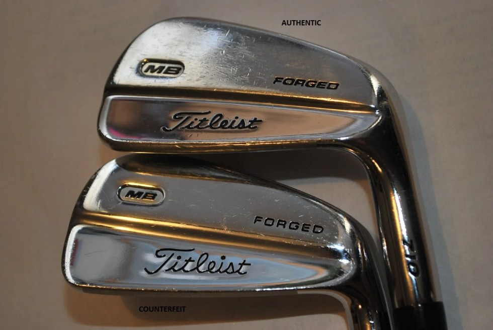 Counterfeit Titleist MB 710 Iron Set