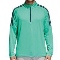 Adidas Three Stripe Quarter Zip Top - Aero Green