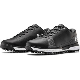 Under Armour Fade RST 3 E Golf Shoes - Black/White