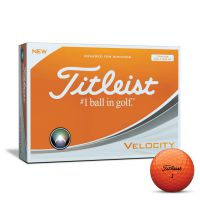 Titleist Velocity Golf Ball - Orange