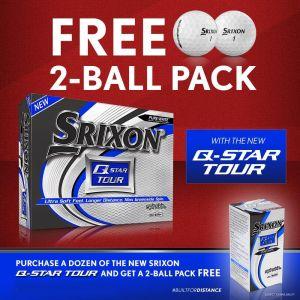 Srixon Q-STAR Tour Golf Balls (2 Pack)
