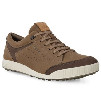 Ecco 2020 M Golf Street Retro Golf Shoes - Birch/Coffee