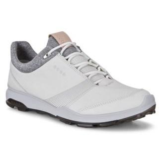 Ecco Womens Golf Biom Hybrid 3 Golf Shoes - White/Black