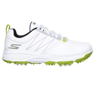 Skechers Boy's Blaster Golf Shoes - White/Lime