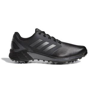 Adidas ZG21 Golf Shoes - Black/Dark Silver/Metallic