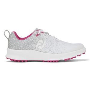 FootJoy FJ Leisure Ladies 2020 Golf Shoes - Silver/White/Fuschia
