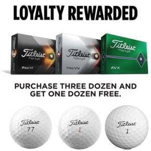 Titleist Pro V1/V1x/AVX 4 for 3 Personalised Golf Ball Offer