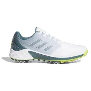adidas ZG21 Golf Shoes - White/Acid Yellow/Blue Oxide