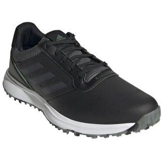adidas S2G SL Golf Shoes - Black/Grey5/Green Oxide