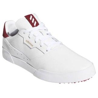 adidas ADICROSS RETRO Golf Shoes - White/White/TMCOBR