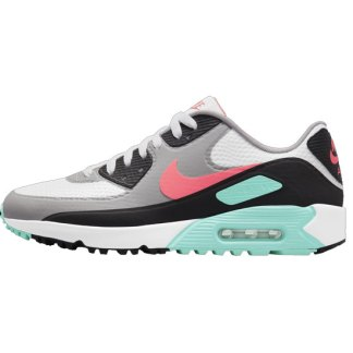 Nike Air Max 90 G Golf Shoes - White/Hot Punch