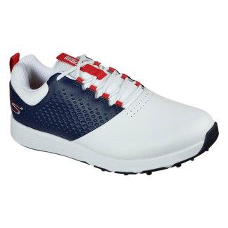 Skechers Mens Go Golf Elite 4 Golf Shoes - White/Navy/Red