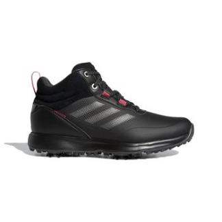 adidas Ladies S2G Mid Cut Golf Boots - Black/Grey/Pink